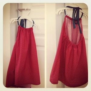 robe dos nu - patron adapté selon une robe Liberty IKKS